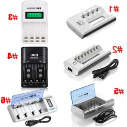 EBL Universal Smart Rechargeable Battery Charger For AA AAA