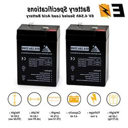 upg replacement 2 pack battery 6v 6