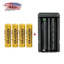 US 2/4pcs ETSTAR 9900mAh 18650 Li-ion Rechargeable Battery +