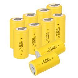 US Yellow Ni-Cd Sub C 1.2V 2200mAh Rechargeable Household Ba