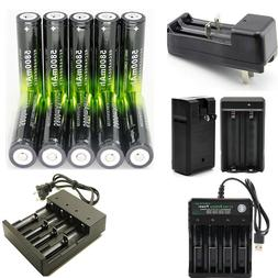 USA 18650 Rechargeable Battery 3.7V Li-ion Battery For LED T