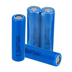 USA 4 x Blue ICR 18650 2000mAH 3.7V Li-ion Rechargeable Flat