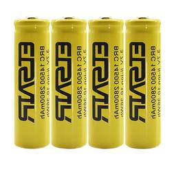 USA 4pcs 14500 3.7V 2800mAH Lithium Li-ion Rechargeable Batt