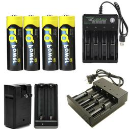 USA Fast ship flashlight Battery 3.7v Rechargeable Battery F