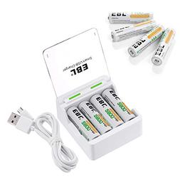EBL Individual Rechargeable Battery Charger with AA Batterie