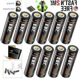 EBL USB Rechargeable AA Battery 1.5V 3300mwh Li-ion Lithium