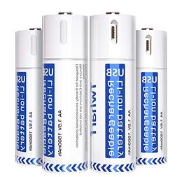 USB Rechargeable Batteries 1500mAh,Long-life Li-on Battery A