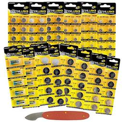 100pc Variety Pack Watch & Coin Cell Batteries CR2025 CR2032