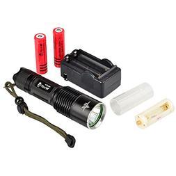 WindFire® F13 Waterproof 2000 Lumen Flashlight 5 Modes Cree