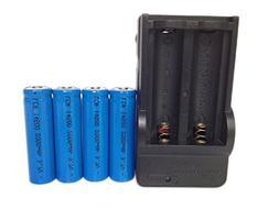 ON THE WAY®Charger and 4Pcs 14500 2000mAh 3.7V Li-ion Lithi