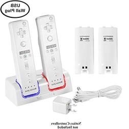 Kulannder Wii Remote Battery Charger Dual Charging Station D
