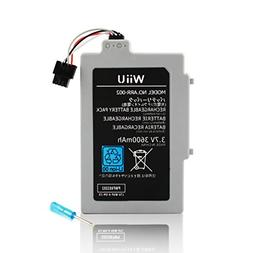 Wii U GamePad 3600 mAh Replacement Rechargeable Battery Pack