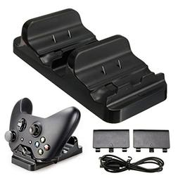 Hovisi® XBOX ONE 2Pcs Battery Packs Controller Charger Dual