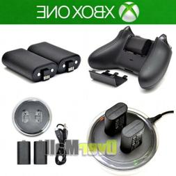 For XBOX ONE Controller Play Charging Dock + 2x Rechargeable