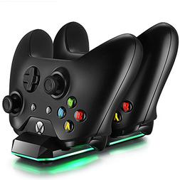 Xbox One Dual Charging Dock Charger Station with 2 Rechargea