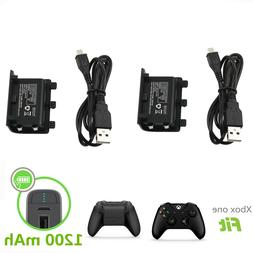 Xbox One S X Controller Play Charging Charger Cable 2x Recha