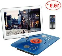 YOOHOO 16.9'' Portable DVD Player with 6 Hours Rechargeable